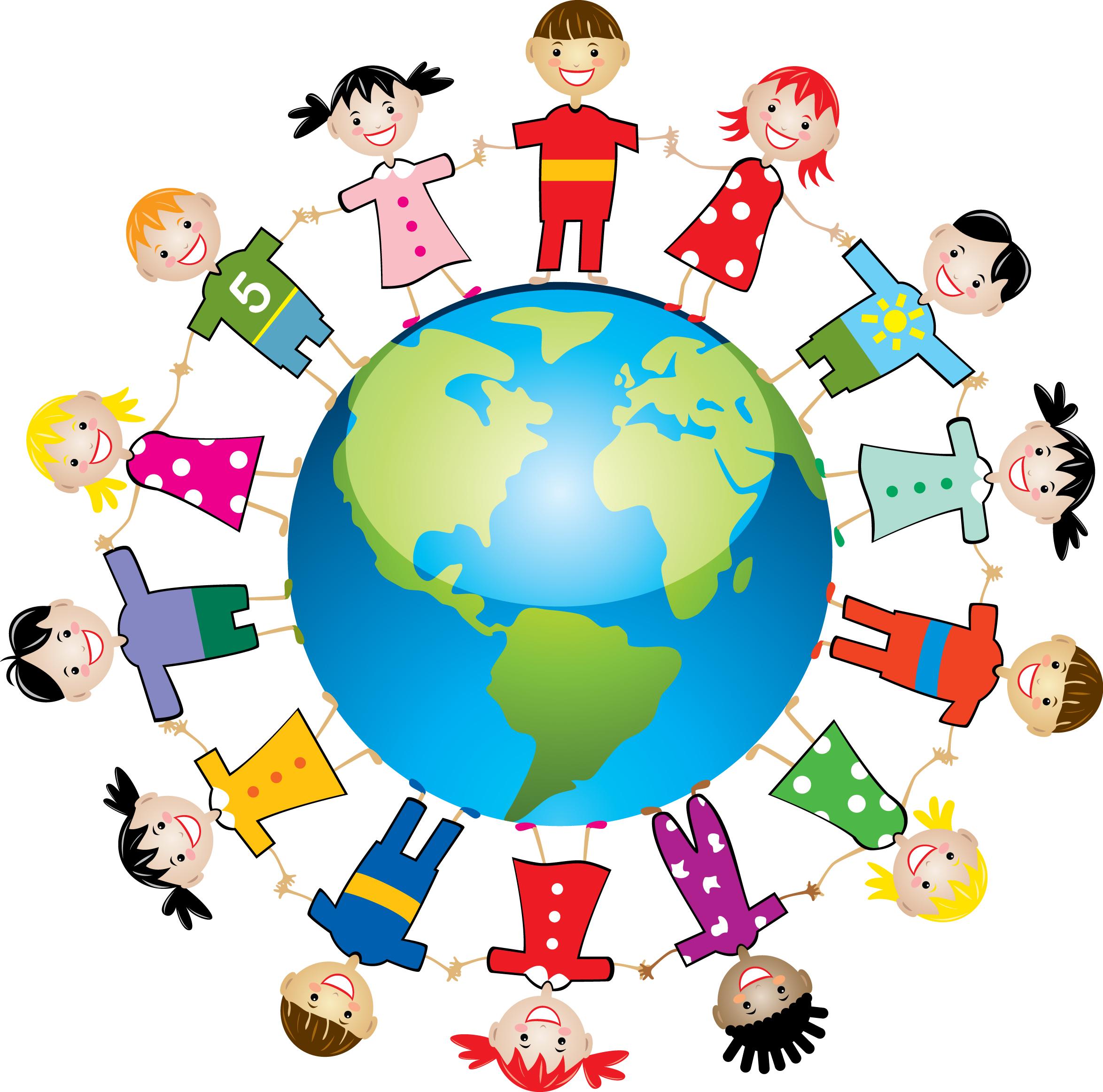 Дети и земля рисунок для ребенка