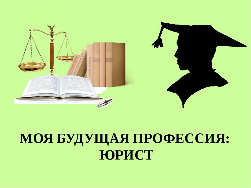 профессия моей мечты юрист